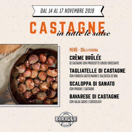 CASTAGNE – Da Giovedì 14 a Domenica 17 Novembre