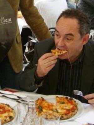 Ferran Adria' si gusta la pizza dei F.lli La Cozza